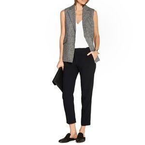 Theory Italian Linen Sleeveless Vest with Pockets